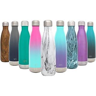 Simple Modern 1000ml Wave Wasserflasche - Trinkflasche Vakuum Isolierte Doppelwandige 18/8 Edelstahl - Hydro Camelbak Swell Bottle - Reisebecher, Flasche, Sporttrinkflasche - Carrara-Marmor