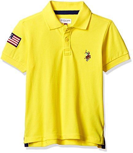 US Polo Boys' T-Shirt (UKTS6414_Light Yellow _36THS)