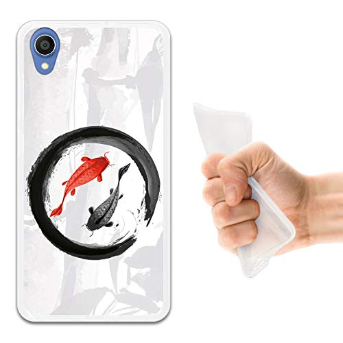 WoowCase Asus ZenFone Live L1 ZA550KL Hülle, Handyhülle Silikon für [ Asus ZenFone Live L1 ZA550KL ] Koi Fische Zen innen Kreis Handytasche Handy Cover Case Schutzhülle Flexible TPU - Transparent - Koi-live