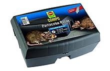 Compo Repellente Barriera Scatola Porta Esche per Animali di Rattiti, Plastica, Nero, 12 x 17 x 23.5 cm
