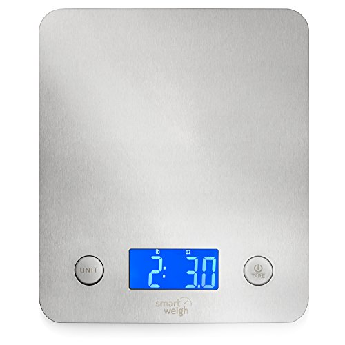 Smart Weigh Balanza Digital de Cocina Multifuncional de Acero Inoxidable, Plata