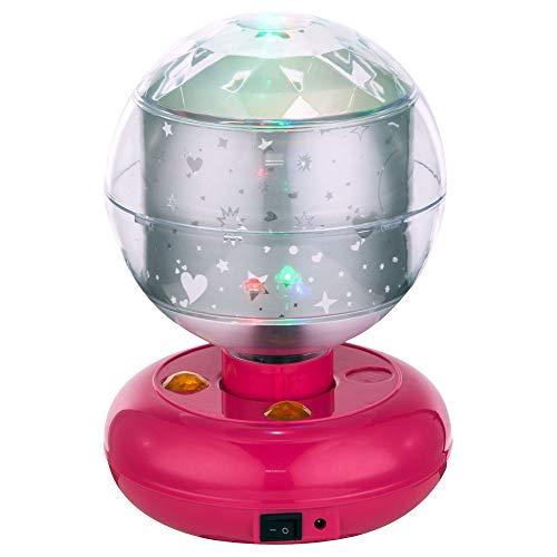 RGB LED Kinder Tisch Lampe Baby Deko Beleuchtung Spiel Zimmer Disco Kugel Leuchte pink Globo 28018 (Kugel Beleuchtung Disco)