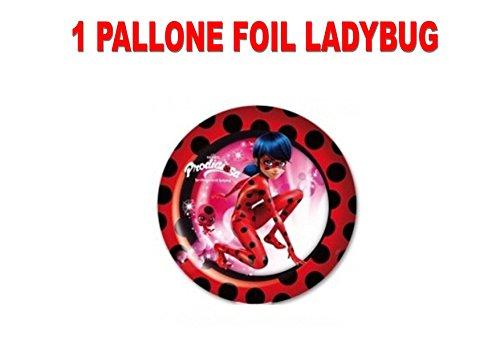 PARTY STORE WEB by casa dolce casa Ladybug Miraculous Fußball Foil Luft Oder Helium Party Dekoration und Tisch-CDC (1Fußball Foil)