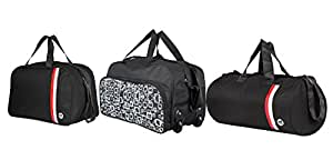 3G Black Softsided Set Of 3 Duffle Bags Combo