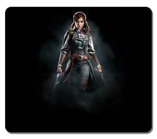 General Elise De La Serre Assassins Creed Unity Game Girl Water Resistent Gaming Mouse Pad Large Mousepad Gaming Pad Large Mouse Pads (Assassin Creed Elise)
