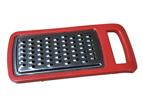 Acero inoxidable con palanca de mano Manual cortador/rallador/cortador/cortador de queso con contenedor caja rojo color tamaño 5,5 x 2,4 pulgadas
