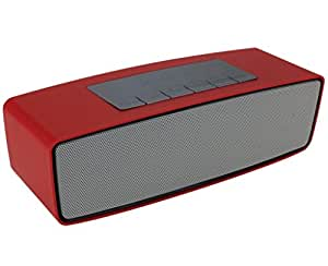 Mobilefit Wireless Txt Mini Bluetooth Multimedia Speaker System (RED) with / Pen Drive / SD Card Compatible for HTC Velocity 4G