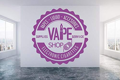 ZJfong Vape Shop Stickers Muraux Papier Peint Fenêtre Décoration Murale Cigarette Électronique Vinyle Stickers Muraux Art Mural 57x57cm