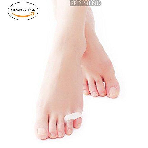 pedimendtm Silikon Gel-Design Toe Separator, Hammer Zeh Straightener (Single-Schlaufe)   Gel-Zehen Separator für Ballenzeh Relief, Double Loop Pinkie Toe Separator  , dehnbar und die Füße   für Hallux vulgux   Ideal für Yoga und Sport Aktivitäten   Unisex Fußpflege