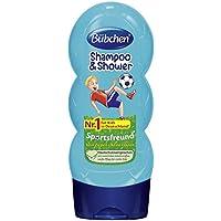Bübchen Kids Shampoo und Duschgel Sportsfreund, Kinder-Shampoo und -duschgel (pH-hautneutrale Pflege für Kinderhaut, mit frischem Duft) 4 x 230 ml