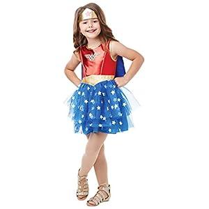 Rubie's Official DC Wonder Woman Deluxe Child's Costume, Superhero Fancy Dress, Child's Size Medium Age 5-6, Height 116 cm