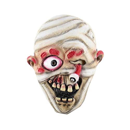 Kostüm Verführerische Teufel - SMQ Gruselige Zombie Puppe Maske, Halloween Maske Teufel Dämon Zauberer Kostüm Party Latex Maske Blutende Zombie Horror Erwachsenen Maske