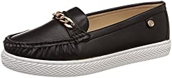 Carlton London Womens Norine Black Loafers and Moccasins - 5 UK/India (38 EU)