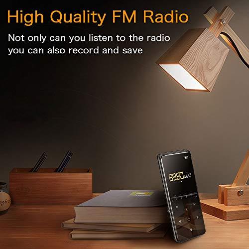Mibao Lettore MP3 Bluetooth4.0, Lostless Music Player 16GB con 2.4' TFT Display a Colori, Pulsante di Tocco, con Radio FM/Registratore Vocale/Immagine/E-book, Supporto Espandibile Max Fino a 64GB - 5