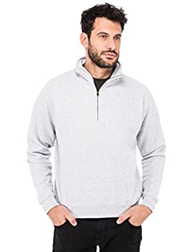 Fruit of the Loom Lightweight Felpa Uomo con zip sul collo (2 pezzi)
