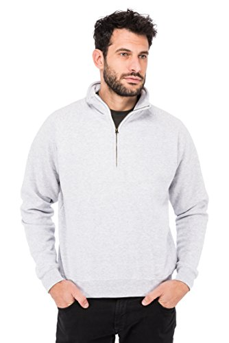 Fruit of the loom Herren Sweatshirt Zip Neck Sweat 62 - 114 - 0, Gr. X-Large, Grau (Heather Grey 94)