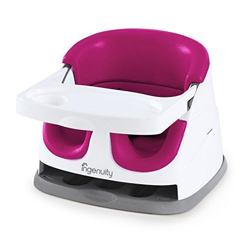 Ingenuity 2 in 1 Babysitzerhöhung und Kleinkindersitz in pink-flambe, für zuhause oder unterwegs, leicht zu reinigen, wächst mit