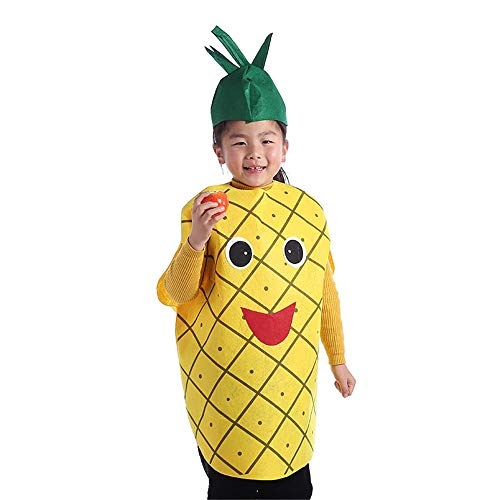 BaronHong Halloween Unisex Kinder Pflanzen Tops + Hut Cosplay Kostüme (Ananas, - Ananas Kostüm Top