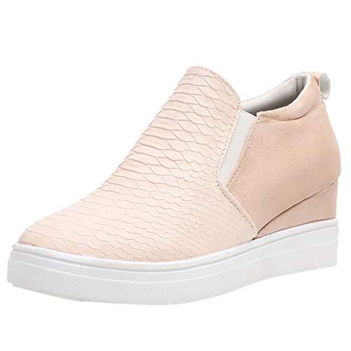 LILIGOD Womens Damen Einzelne Schuhe Flat Casual Zipper Single Schuhe Plus Size Booties Studenten Laufschuhe Bequem Weicher Boden Slip-On Müßiggänger Mode Wild Freizeit Faule Schuhe