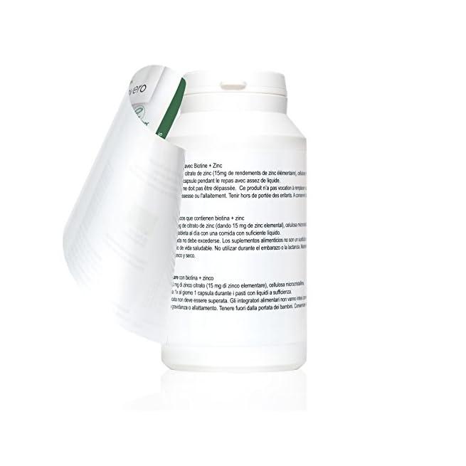 BIOTINA Vegavero®   con ZINCO   180 o 365 capsule ...