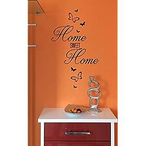 "*NEU* Wandaufkleber Wandtattoo Wandsticker/Flur""HOME SWEET HOME – inkl. Schmetterlinge"" (Größen.- und Farbauswahl)"