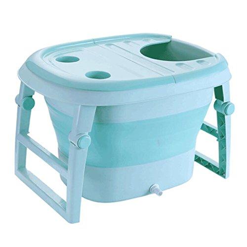 TIDLT Faltende Kinder Bad Barrel Bad Eimer Baby Multi-Funktionale Schaumbad (Farbe : Blau) (Blaues Schaumbad)