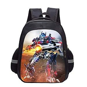 Backpack Transformers Impreso Doble Capa Mochilas Infantiles Escuela Infantil para Niños Y Niñas Mochilas Bolsas Escolares 5-12 Años A-S(34 * 27 * 14CM)