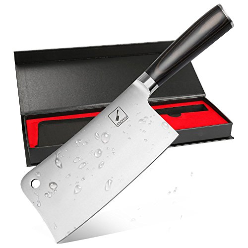 Imarku Profesional Cuchillo de Carnicero, 7 Pulgadas de Acero Inoxidab