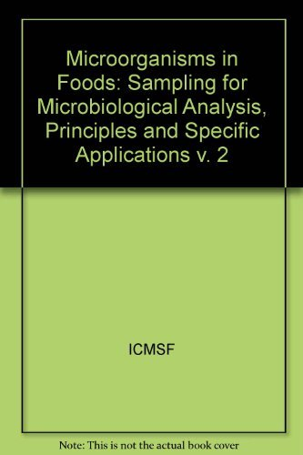 Microorganism in Foods/Book 2 (v. 2) by International Commission on Microbiological Specifications for Foods (ICMSF) (1987-12-30) par International Commission on Microbiological Specifications for Foods (ICMSF)