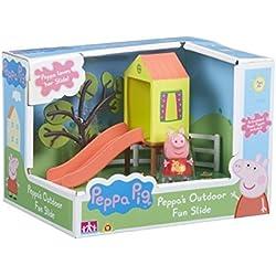 Peppa Pig - Le Toboggan de Peppa - Décor + 1 Mini Figurine