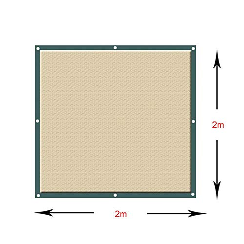GBX Outdoor Shelter Sun Shade Cloth, Shade Cloth, Sun Shade Net Sunscreen Awning Canopy Tent with Free Rope Outdoor Garden Patio Party for Plant Flower,Khaki,3x4m
