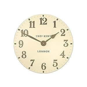 thomas kent petite horloge murale chiffres arabes couleur cr me 15 2 cm cuisine maison. Black Bedroom Furniture Sets. Home Design Ideas