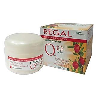 Regal Q10+ Crema de Día energizante Antiarrugas con Baya de Goji SPF 20 Piel Seca y Sensible