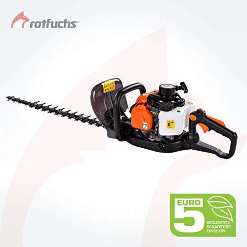 ROTFUCHS® Profi Benzin Heckenschere HTX260 Motorheckenschere 60cm Schnittlänge verstellbarer Griff Vibrationsarm Orange