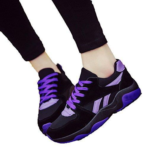 Primavera Signora CHT E Autunno Selvaggio Scarpe Sportive Casuali Purple