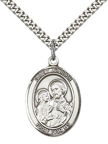 sterling-silver-st-joseph-pendant-with-24-stainless-silver-heavy-curb-chain-patron-saint-of-carpente