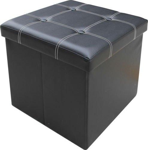 large-ottoman-faux-leather-stool-folding-seat-chest-foldable-storage-box-foot-single-black