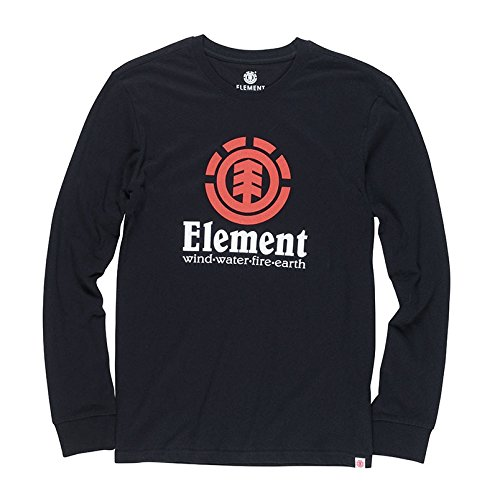 Element Herren Vertical Longsleeve Flint Black