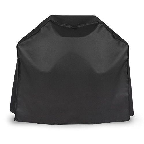 Klarstein Lucifer 2.0 Cover Wetterschutzhaube • Grillabdeckung • Wetterschutzhülle • 600D Canvas • Segeltuch • 30% Polyester • 70% PVC • abwaschbar • passend für alle 2-Brenner-Gasgrills • schwarz