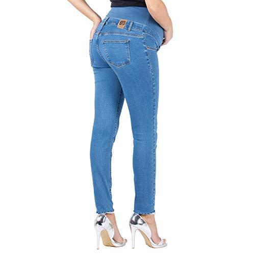 MAMAJEANS Skinny Fit Umstandsjeans, Grundlegende Jeggings Einfach Und Super Elastisch, Bequem Und Modisch Jeans für Schwangerschaft - Made in Italy (XS, Hell) -