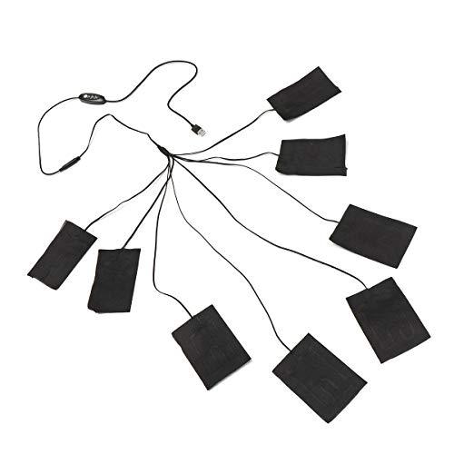 Thermische Kleidung (Kung Fu Mall 5-12 V 8 In 1 Kleidung Heizkissen Einstellbare Temperatur Thermische Kleidung Jacke Elektrische USB)