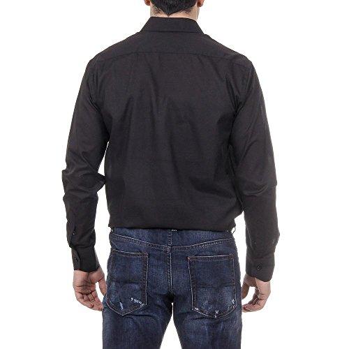 Versace 19.69 Abbigliamento Sportivo Srl Milano Italia Mens Classic Neck Shirt 377 VAR. 534 Black
