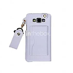 GENERIC Pu Leather Card Slot Hang Rope Hanging Around His Neck cell Phone Holster For Galaxy A3(Assorted color) #04178384
