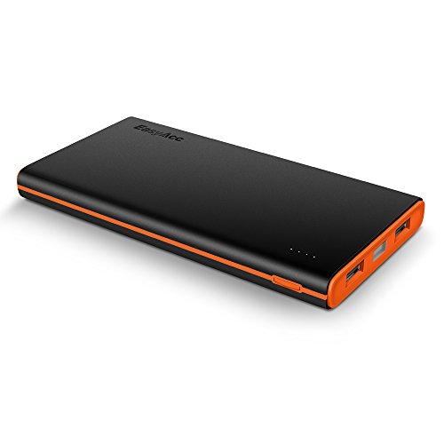 EasyAcc 10000-BO Batteria esterna portatile, 10000mAh, per iPhone Samsung Smartphones Tablets, Nero/Arancione