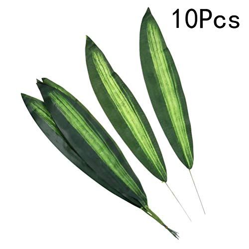 VORCOOL 10 stücke Künstliche Pflanze Blatt Lebensechte Dracaena Fragrans Blätter für Home Office Cafe Store Decor