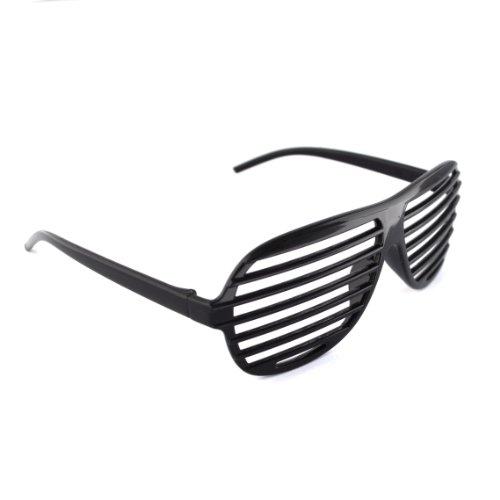Schwarz / Black Neuheit-Shutter Shades Sonnenbrille