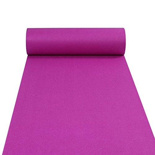 (JH Teppichläufer für Hall Stair Party Hochzeit Hochzeit Aisle Carpet Runner Teppich Floor Runner Echtes Lila (Color : Purple, Size : 1.2m*50m))