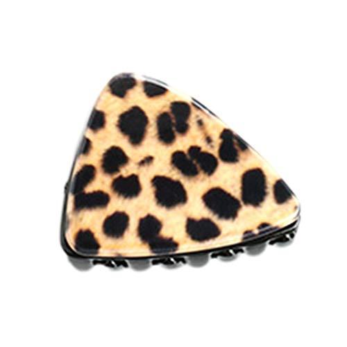 VIccoo Koreanische süße Katze Ohr Dreieck kleine Haar Klaue Clip Frauen Mädchen Vintage Leopard Plaid Acryl Hairgrip dekorative Pferdeschwanz Haarspange - Braun