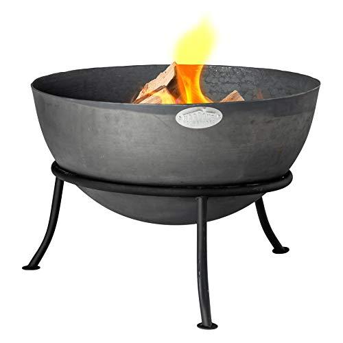 Harbour Housewares Feuerschale für den Garten - Gusseisen - Gestell mit DREI Beinen - 60 cm