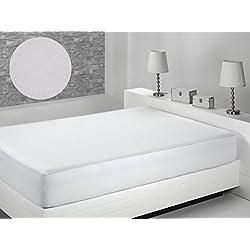 Dormio - Protector de colchón, impermeable y transpirable. 100% Algodón de Tejido Plano tamaño 80 x 190/200 (Todas Las Medidas) Modelo Naranja